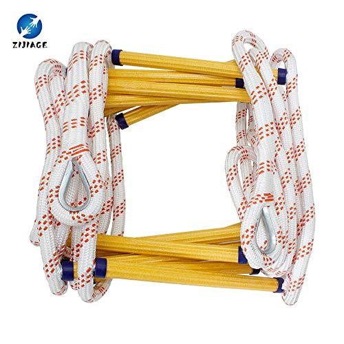 ZIJIAGE Rescue Fire Escape Ladder Weiche Leiter ohne Stahldraht für Rettungshaken zum Klettern. Schnell einsatzbereit und benutzerfreundlich,30m