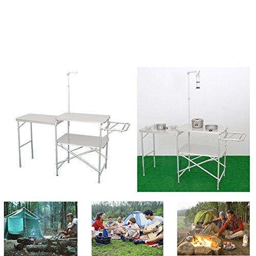 Binglinghua® Campingtisch tragbar Outdoor Küche Kochgeschirr Klappbare Campingstation Coleman