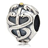 Life Saver Charm - 925 Sterling Silver Two Snake Charm - Fit for DIY Charms Bracelets