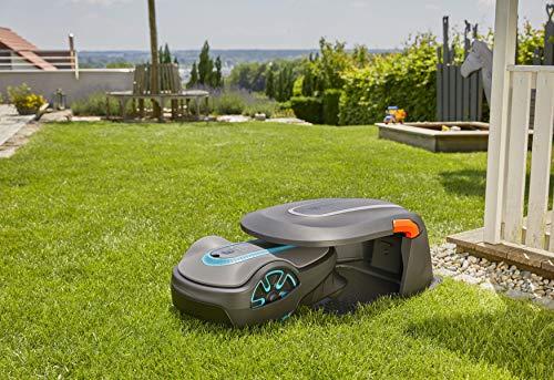 Gardena Garage für Mähroboter: Garage für Rasenmäher, optimaler Sonnen- und Regenschutz für Rasenroboter und Ladestation (15020-20) - 2