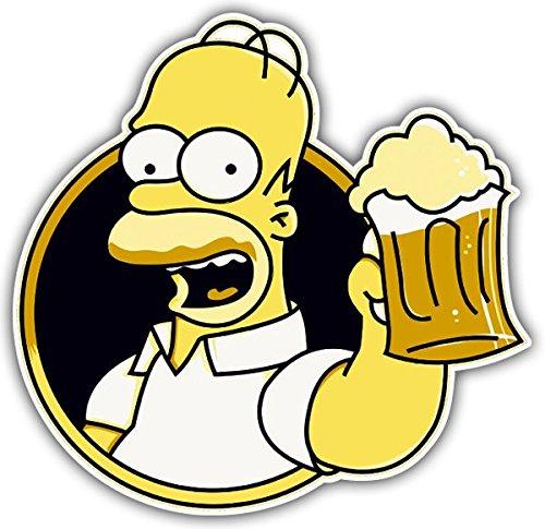 Aufkleber wählbar Adhesivo Sticker für Auto und Motorrad,, zu trinken Bier Homer,, 20 cm