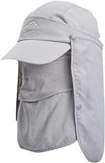 Summer Outdoor Men Women Sun Hat Protection Bucket Boonie Cap Solid Adjustable Fishing Hat with Neck Flap UPF 50+