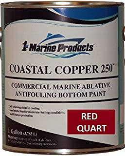 US Marine Products Coastal Copper 250 Ablative Antifouling Bottom Paint RED Quart