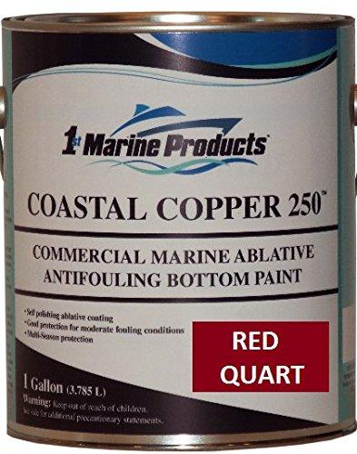 US Marine Products Coastal Copper 250 Ablative Antifouling Bottom Paint RED Quart