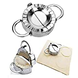 Stainless Steel Dumpling Maker - Dumpling Press/Empanada Maker/Pie Ravioli Maker Mould Dumpling Wrappers Mold Kitchen Accessories (9.5cm/3.74' Large)