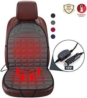 SeaHome Heated Car Seat Cushion with Intelligent Temperature Controller, 12V Universal Fit for Auto Supplies Home Office Chair