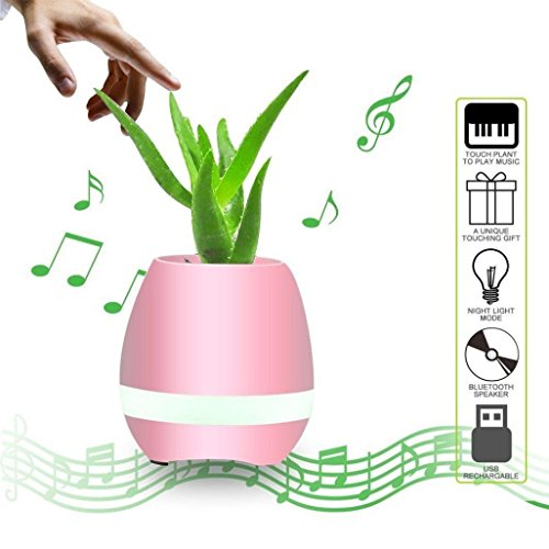 Muziekale bloempot met Hunpta Smart Finger Touch Bluetooth luidsprekers, decoratie voor thuis of op kantoor