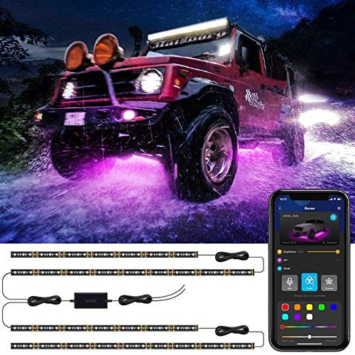 Govee Exterior Led Car Lights, App Control, Music Sync, Multicolor and Scene Options, DC 12-24V