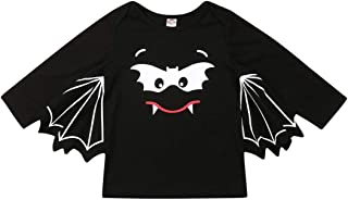 haihai-86 Toddler Baby Boys Girls Clothes Long Sleeve Bat T-Shirt Halloween Costume 1-5T