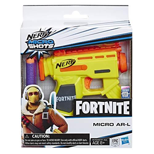 Nerf- Lanzadardos Micro Ar-L Microshots Fortnite, Color (Hasbro E6750EL2)