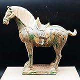 HUAHU Arte Tíbet Caballo Escultura Estado decoración Popular té Mascota Bully cerámica vidriada de Tres Colores Caballo de cerámica Antiguo Vintage