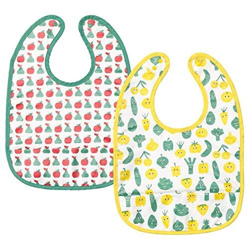 IKEA Matvra 404.269.25 - Babero con diseño de frutas y verduras, color verde y amarillo