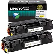 LINKYO Compatible Toner Cartridge Replacement for HP 80A CF280A (Black, 2-Pack)