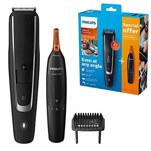 Philips BearDTRIMMER Series 5000 BT5503/83 Haarschneidemaschine schwarz, silber wiederaufladbar