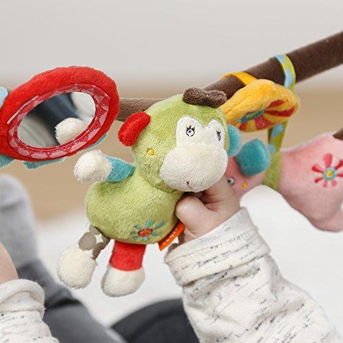 Fehn 074550 Kinderwagenkette Safari – Mobile-Kette mit niedlichen Figuren zum Aufhängen an Kinderwagen, Babyschale oder Kinderbett – Für Babys und Kleinkinder ab 0+ Monaten, Länge: 45cm