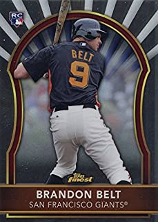 2011 Topps Finest - Brandon Belt - San Francisco Giants Baseball Rookie Card #83