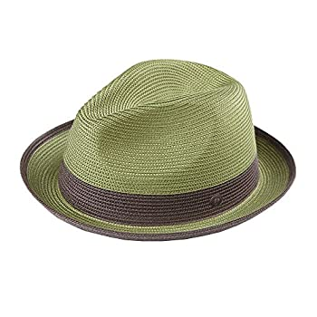 DASMARCA Mens Summer Crushable & Packable Straw Fedora Hat - Florence Amazon M