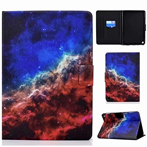 Funda para tablet Fire HD 10 (11ª generación 2021) y Fire HD 10 Plus, funda protectora de piel sintética con Smart Auto Sleep/Wake, Starry Sky