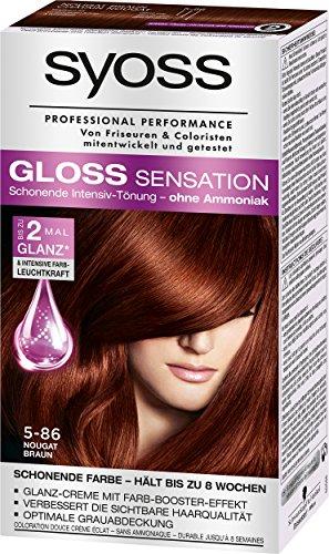 Syoss Gloss Sensation Intensiv-Tönung 5-86 Nougat Braun, 3er Pack (3 x 115 ml)