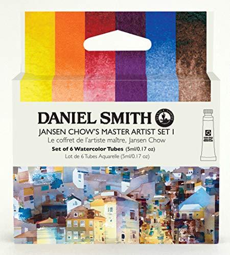 Daniel Smith Watercolors, Jansen Chow's Master Artist Set I, Includes six 5ml Tubes