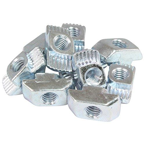 100x Hammermutter Nut 10 - Typ B - M6 Steg 3,0 mm, Stahl verzinkt
