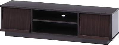 不二貿易 テレビ台 ローボード 42型対応 幅119cm ブラウン フラップ扉 99261