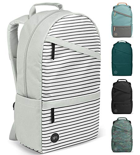 Simple Modern Legacy Backpack with Laptop Compartment Sleeve for Men Women Work School College, Glacier Stripes, 25 Liter