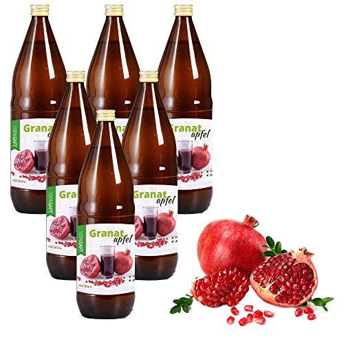 Mynatura Granatapfelsaft 100% Direktsaft naturtrüb I 6 L I Muttersaft I ohne Zusätze I Vitaminreich I Naturprodukt I Fruchtsaft I Saft I Dessert I Ohne Zucker| |Glasflasche (6 L)