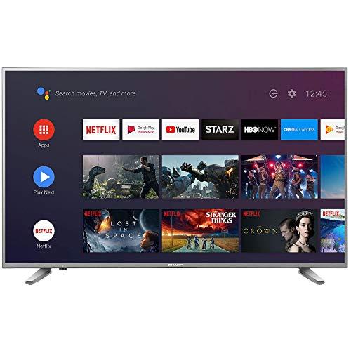 "Sharp 58"" Smart RokuTV 4K Televisor Ultra HD Pantalla LED TV LC-58Q620U (Renewed)"