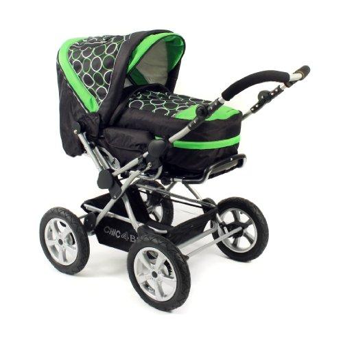 Chic 4 Baby 100 45 Schwenkschieber-Alu-Kombi Viva Orbit mit großen Lufträdern, grün