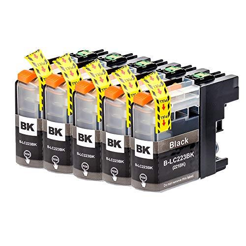 ICAI - Cartucho de tinta de repuesto para Brother LC223 para Brother DCP-J4120DW MFC-J5320DW DCP-J562DW MFC-J880DW MFC-J5620DW MFC-J680DW MFC-J4625DW MFC-J5720DW J4420DW y J4620DW (5 unidades)