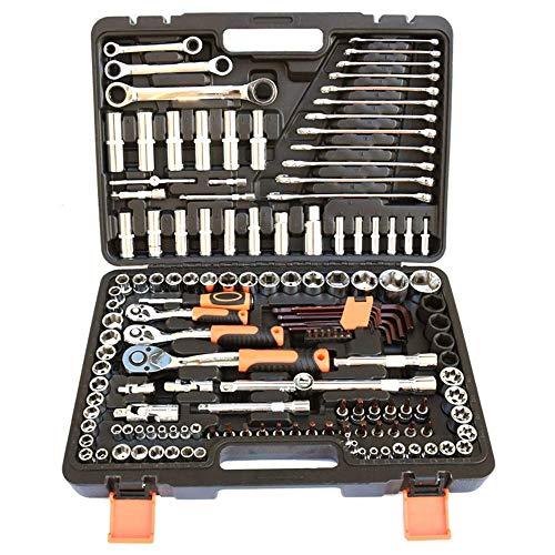 Outingstarcase Conjunto de Herramientas for Socket 150 Piezas de reparación automática Caja de herramientas de combinación de múltiples funciones fijado zócalo del coche de juego de llaves Herramienta