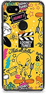 Skinit Clear Phone Case for Google Pixel 3a - Officially Licensed Warner Bros Tweety and Sylvester Patches Design