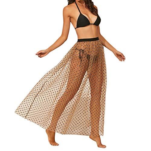 FASBB Vestido maxi para mujer, de verano, transparente, para mujer, de tamaño grande, casual, para verano, sexy, para mujer