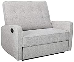 Includes: one (1) Recliner Dimensions: 35. 00 inches deep x 47. 00 inches wide x 39. 00 inches high Seat width: 39. 25 inches Seat Depth: 20. 50 inches Seat Height: 18. 75 inches Material: fabric a com position: 100% polyester This Loveseat Recliner ...