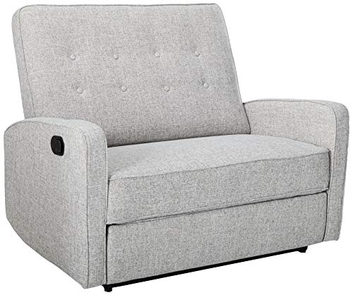 Christopher Knight Home Callade Reclining Loveseat Tweed, Light Grey