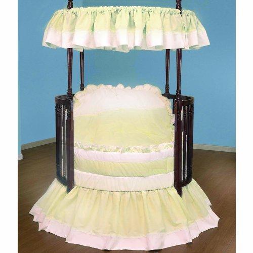 Baby Doll Bedding Regal Round Crib Bedding Set, Ecru