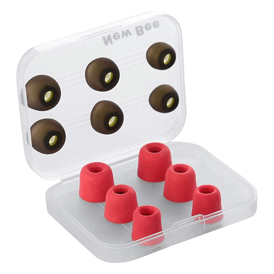 FidgetFidget Earbuds 6 Pairs Memory Foam Replacement Ear Tips Buds Set with Box