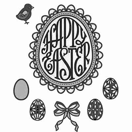 Doe-het-zelf stansvormen, met stempelvormpjes voor Pasen, punten, eieren, stansvormen, metaal, sjablonen, voor doe-het-zelf, scrapbooking, albums, papier en kaarten