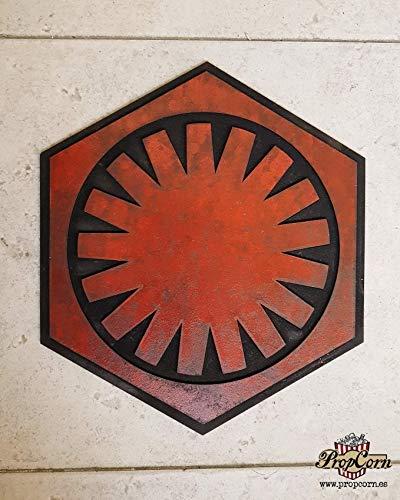STAR WARS Primera Orden logo. Cartel en madera para decorar. Sith, Snoke, Kylo Ren, General Hux, Captain Phasma, Starkiller, Stromtrooper