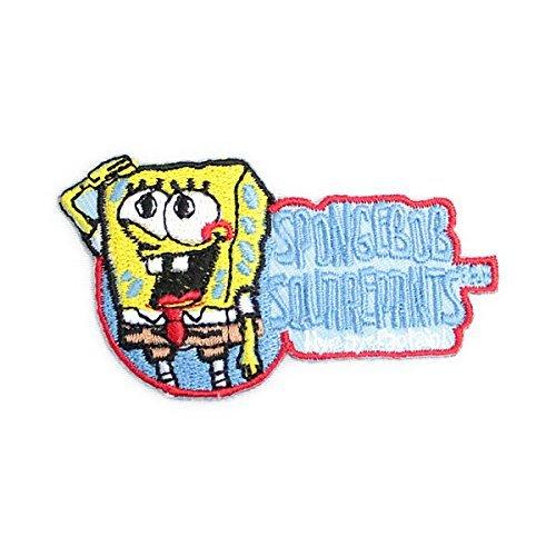 ノーブランド品 spongebob スポンジボブ キャラクター ワッペン 黄