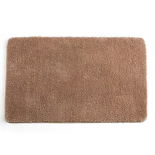 Rutschfeste Badematte Weich verdickter Duschteppich Flauschige Badezimmerteppiche aus Mikrofaser mit hoher Dichte, super saugfähig, maschinenwaschbar, für Dusche, Badewanne und Toilette, Bra