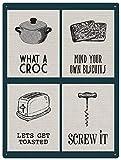 Señal de metal con texto en inglés 'What A Croc Mix' (30 x 20 cm)