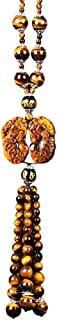 AAZX Feng Shui Hanging Ornament Natural Tiger Eye Healing Chakra Statue Home Office Car Decoration, Attract Wealth And Pro...