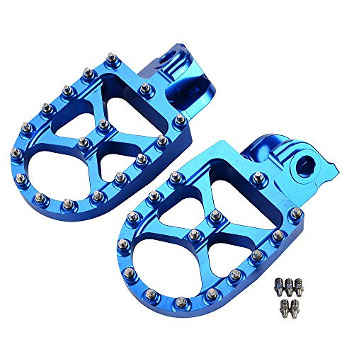 Reposapiés Footpegs De Reposapiés Pegas De Pies Restaurable Pedal Fit para Husqvarna Te Fe 65 85 150 200 250 300 350 400 501 2014-2016 TC FC 125 250 350 400 (Color : Blue)