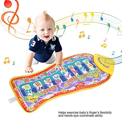 Piano Tapis De Jeu avec Musique 36X28 CM, Poissons Électroniques Touch Touch Early Tapis Éducatif Éducatif Jouets Cadeau