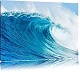 Atemberaubende Welle Format: 120x80 auf Leinwand, XXL