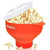 The Original Microwave Popcorn Popper, Silicone Popcorn Maker Collapsible Bowl, BPA Free, Hot Air Popcorn Maker - Free e-Book Include