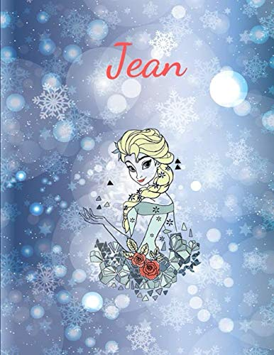 Jean: Disney Frozen Anna and Elsa - Personalized Writing Journal / Notebook for Girls and Women - Watercolor Floral Monogram Initials Names Wide Ruled ... Color Name Cover Design) (Cassiopeia Book)