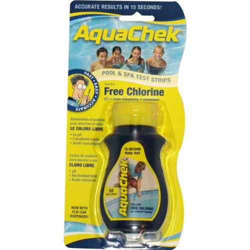 AquaChek - aquaclph - 50 bandelettes Test pour Chlore Libre Yellow
